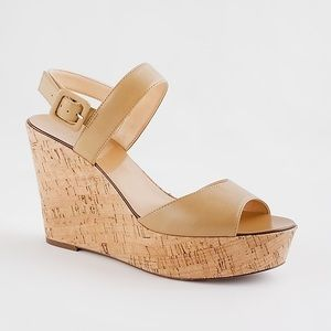 J. Crew Maryanne Leather Wedges
